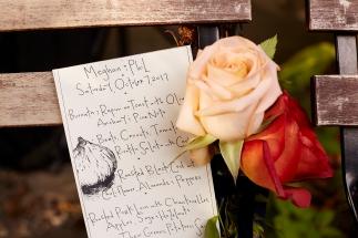 menu with florals